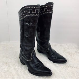 Ariat Shoes - Ariat Sahara Tall Black Cowboy Boots Egyptian